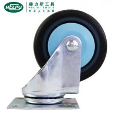 赫力斯HELISI静音橡胶轮脚轮 车轮平板小车轮(万向 4寸)  JC.241