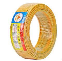 天坛塑铜线BV国标铜电线铜芯家装硬电线电缆  95米(95m-1.5平方-黄绿双色)   JC.258