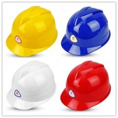 普达 安全帽工程施工帽 新V型ABS工矿用 (白色) JC.289