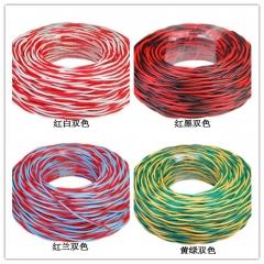 天坛消防线软 耐火双绞线RVS线电线花线95M/盘(黄绿 2芯*1.5平方)   JC.302