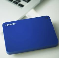 东芝(TOSHIBA)V9 CANVIO高端系列 2.5英寸 移动硬盘(USB3.0)3TB 蓝色   PJ.014