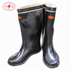 双安 长筒电工鞋 绝缘胶鞋 安全鞋工矿靴 长筒雨靴 6KV(44#)   JC.358
