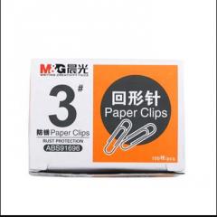晨光 M&G 3#纸盒装回形针 ABS91696 28mm 100枚/盒     XH.399