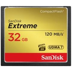闪迪(SanDisk)32GB 读速120MB/s 写速85MB/s 至尊极速CompactFlash存储卡 UDMA7 CF卡 ZX.101