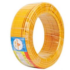 天坛TianTan塑铜线BV国标铜电缆电线铜芯硬线 ( 95m-6平方-黄色)JC.432