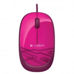 罗技(Logitech)M105 鼠标 时尚多彩 左右手通用  蜜桃粉  PJ.079