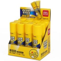 得力(deli)7090强粘性 PVP固体胶/固体胶胶棒15g 12支/盒     XH.042