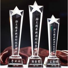 若相惜 水晶奖杯 奖牌 奖品   五星荣耀+中号25厘米       BG.037