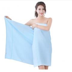 浴巾 竹纤维纯色柔软吸水浴巾70×140cm 蓝色 360g/条 5条/包   BC.028