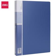 得力(deli)5005 A4/60页资料册/插袋文件册/活页文件夹 蓝色 单只装      BG.058