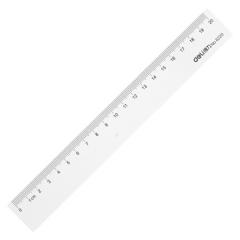 得力(deli)6220 20cm塑料直尺    BG.014