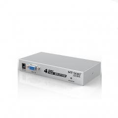 迈拓维矩(MT-viki) MT-1504K VGA分配器一分四1进4出分屏器4口显示器信号分频器  PJ.096