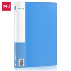 得力(deli)5301 实用文件夹 A4单强力夹+插袋 蓝色 单只装     BG.078