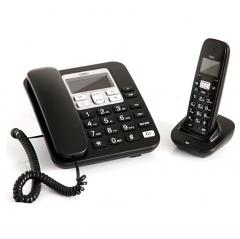 得力791数字无绳电话/子母机2.4G 经典黑   IT.134