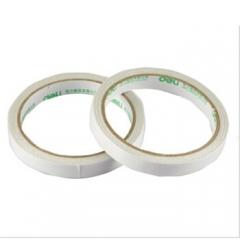 得力(deli) 30405双面胶带棉纸两面胶带高粘度透明双面胶纸    6卷/包    BG.109