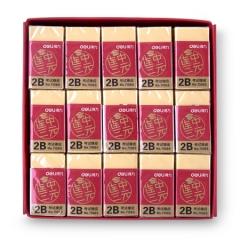 得力(deli)45个连中三元系列学生考试橡皮擦 黄色71065    BG.123