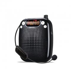 十度(ShiDu)SD-S611 无线扩音器UHF版 教师教学专用大功率小蜜蜂导游促销会议便携扩音机音响喇叭 经典黑  IT.151