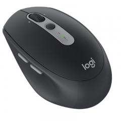 罗技(Logitech)M590 多设备静音无线鼠标 无线蓝牙优联双模跨计算机控制鼠标 侧键  石墨黑 PJ.108
