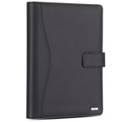 得力(deli)25K100张高档款活页皮面本 商务办公记事本笔记本子 黑色3164       BG.088