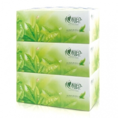 心相印抽纸 茶语系列盒抽取式面巾纸 (3盒/提)    QJ.052