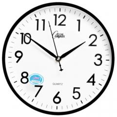 康巴丝(COMPAS)挂钟 创意时尚时钟 静音石英客厅卧室简约钟C2855 黑色 DQ.1122