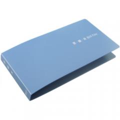 得力文件夹 5352票据夹 A6文件夹 6个装  蓝色     BG.098