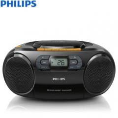 飞利浦(PHILIPS)AZ329/93 CD机 磁带机 卡带机 学习机 胎教机 收录机 收音机 教学机 USB播放器 手提音响 DQ.1124
