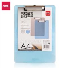 得力(deli)A4带刻度半透明书写板夹文件夹 蓝灰随机9256      BG.154