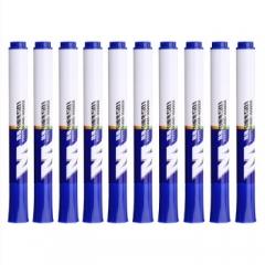 晨光(M&G) 易擦白板笔油性速干记号笔 10支蓝色 AWMY2201       BG.162