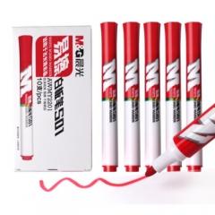 晨光(M&G) 易擦白板笔油性速干记号笔 10支红色 AWMY2201    BG.163