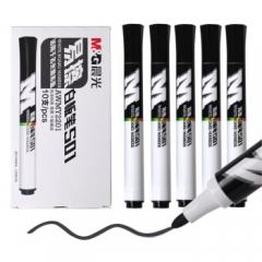 晨光(M&G) 易擦白板笔油性速干记号笔 10支黑色 AWMY2201     BG.164