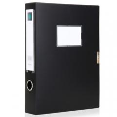 得力(deli) 5602 A4粘扣档案盒文件资料收纳文件盒资料盒背宽3.5cm  黑色    BG.167