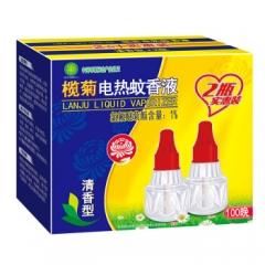榄菊 清香型电热蚊香液2瓶100晚 补充装 驱蚊液 电蚊香 电蚊液     QJ.114