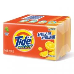 汰渍 全效360度洗衣皂(柠檬清香)202g*2 透明皂 肥皂    QJ.123