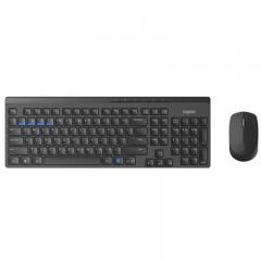雷柏(Rapoo) 8100M无线键鼠套装 USB无线键盘蓝牙鼠标套装办公商务电脑笔记本台式机键鼠 黑色   PJ.040