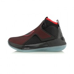 李宁 男子篮球专业比赛鞋篮球鞋 ABAN025-2标准黑/公牛红   42码     TY.069