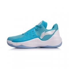 李宁 篮球鞋男鞋2018夏季新款音速6CBA篮球比赛战靴低帮运动鞋ABAN053-3 海豚蓝/标准白   39码    TY.052