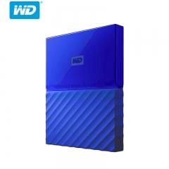 西部数据(WD)2TB USB3.0移动硬盘My Passport 2.5英寸 贵族蓝(硬件加密 自动备份)WDBS4B0020BBL PJ.133