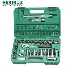 世达公制套筒棘轮扳手组套汽修汽保工具 58件套装12.5MM系列09007  JC.565