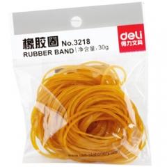 得力(deli) 3218 橡皮筋 橡胶圈 乳胶圈 牛皮筋 30克 办公用品 单包 3218(30g袋装)    BG.222
