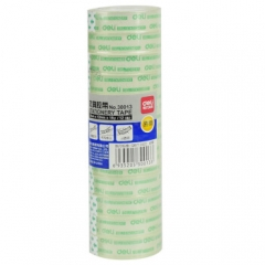 得力(deli) 学生文具胶带 小卷胶带 透明彩色胶布 办公用品 30013(12mm*18y 12卷)    BG.225