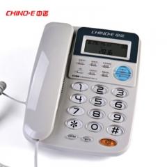 中诺(CHINO-E)C168 免电池/来电显示有线坐机固话机 灰白色   IT.218