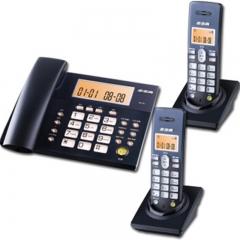 步步高(BBK) W101数字无绳电话机 子母机 屏幕按键双背光 三方通话 大屏幕显示 深色1拖2  IT.226