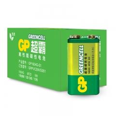 超霸(GP)1604G-S1碳性电池9V九伏玩具遥控器无线麦克风电子仪表6F22(10节装) PJ.136
