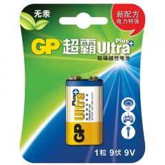 超霸(GP) GP1604A-L1 碱性电池 9V U能高性能数码伴侣1粒/卡(适用于玩具遥控器/无线麦克风)PJ.137