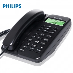 飞利浦(PHILIPS)TD-2808 有绳电话机 免电池/来电显示电话机/办公座机/免提电话机(黑色)IT.248