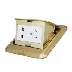 正泰(CHNT)弹起式地板插座 带功能键带接线端子不带暗盒 NED系列香槟金 JC.744