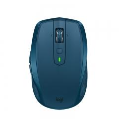 罗技(Logitech)MX Anywhere 2S 无线蓝牙优联双模跨计算机控制鼠标 快速充电 玻璃面可用   睿智蓝  PJ.153