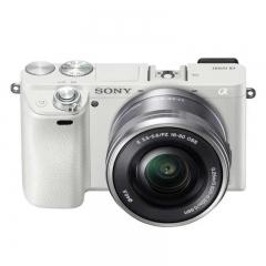 索尼(Sony)ILCE-6000L APS-C微单数码相机标准套装 白色(E PZ 16-50mm镜头 a6000) ZX.220