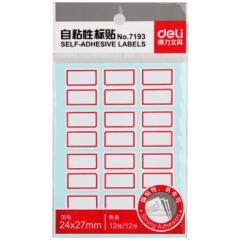 得力(deli) 口取纸 自粘性标签贴/标签纸/便签纸姓名贴 7193     BG.252